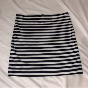 Navy and white striped pencil skirt from H&M